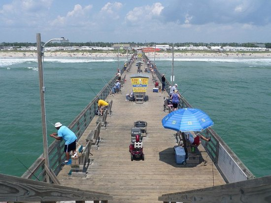 Just down the way picture of bogue inlet fishing pier for Fishing report emerald isle nc