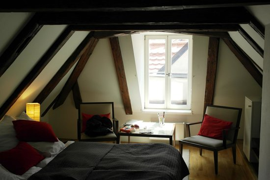Part of attic room 8 picture of domus balthasar design for Hotel domus balthasar prague