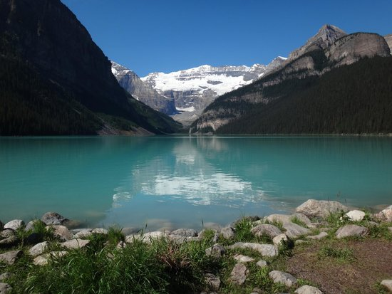 View From Fairmont Chateau Of Lake Louise