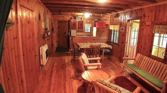Rustic cabin with updated interiors picture of mantrap for Rustic home decor park rapids mn
