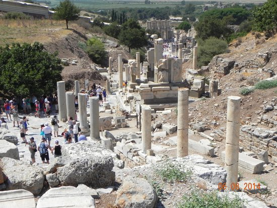 Main Street of Ephesus early morning view - Picture of ...