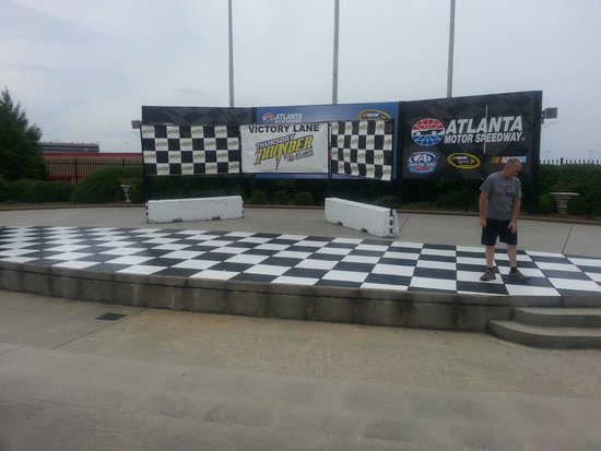Victory lane picture of atlanta motor speedway hampton for Hotels close to atlanta motor speedway