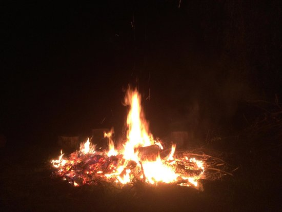 Evening Bonfire at Cornwall Inn. This is where we made the s'mores.