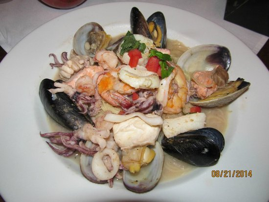 Seafood pasta for Flying fish carmel