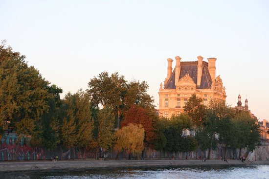 Eiffel tower from the cruise picture of river seine cruise paris