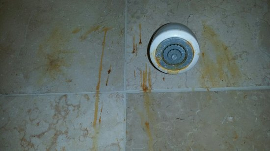 Siena Hotel: What is all that orange stuff? Rust? Mold?