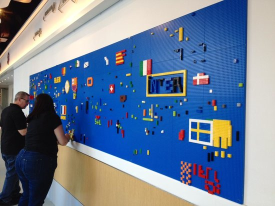 Lego Wall In Recreation Area Picture Of Yotel New York