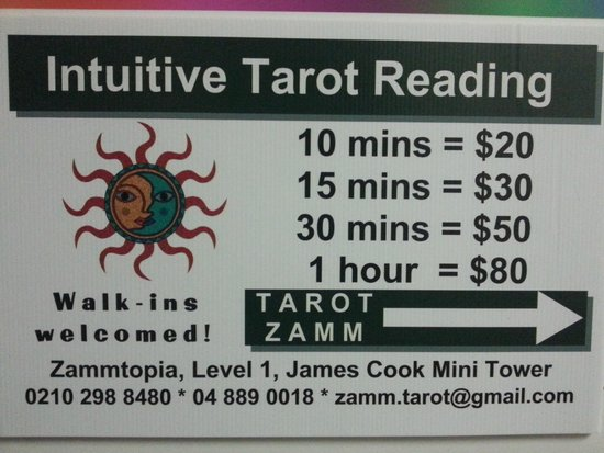 TAROT ZAMM - Intuitive Tarot readings at the James Cook Arcade Mini Tower.