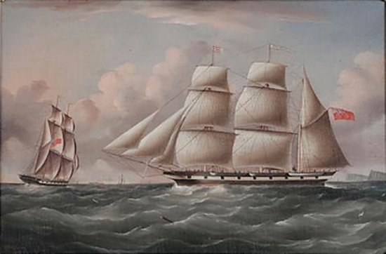 Captain Charles Bayley's favourite ship, Runnymede