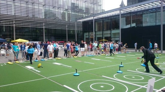 Carpet Curling at an Event in Scotland