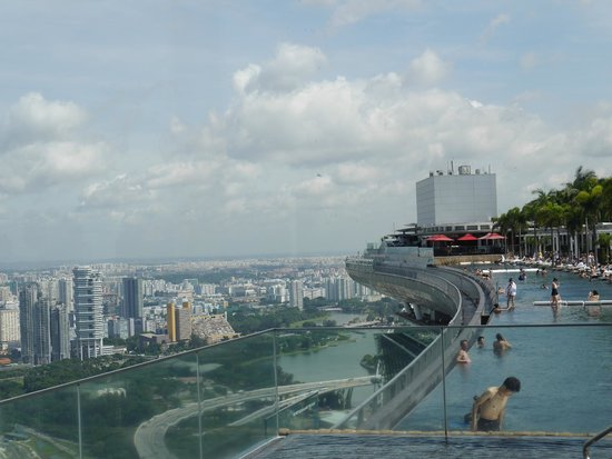 Infinity Pool From Sky On 57 West Terrace Picture Of Marina Bay Sands Skypark Singapore
