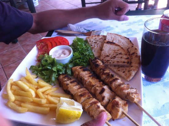 chicken gyros pita - Picture of Gyros -Souvlaki Under The Pine Tree ...