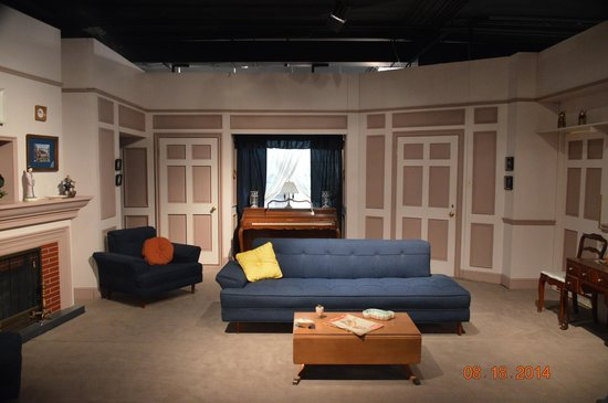 The recreated living room picture of lucille ball desi I love lucy living room set