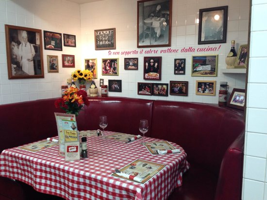 Original And Funny Table With The View Of The Kitchen Picture Of Buca Di Beppo Santa Monica