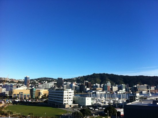 Copthorne Hotel Wellington Oriental Bay: View from the hotel room on level 8