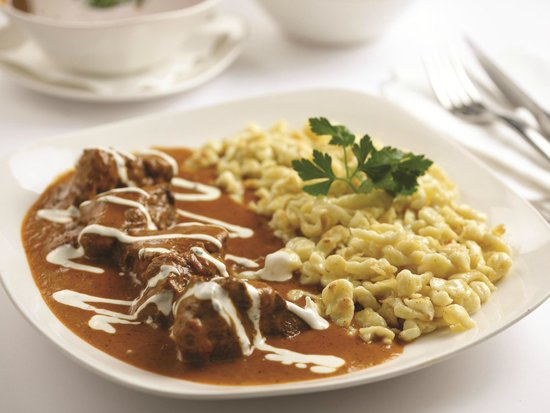 Veal Goulash with Spaetzle - Picture of Brotzeit German Bier Bar ...