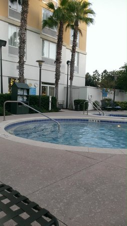 Pool With Jacuzzi In The Background Picture Of Hilton Garden Inn Orlando At Seaworld Orlando
