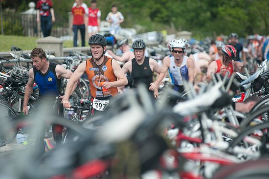 County Armagh, UK: Crooked Lake triathlon, Camlough, South Armagh