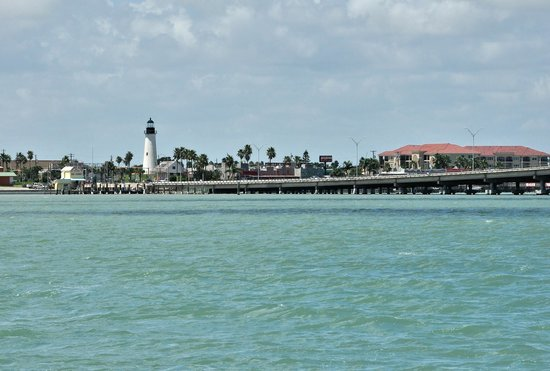 Port Isabel, TX: View of the lighthouse from a boat in Laguna Madre.