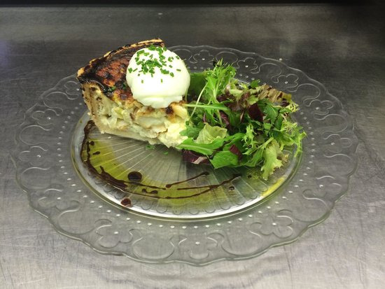 Smoked Haddock, Spring Onion, Gruyere Cheese Quiche And Poached Duck ...