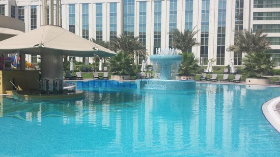 View Of The Pool Picture Of Millennium Airport Hotel Dubai Dubai Tripadvisor