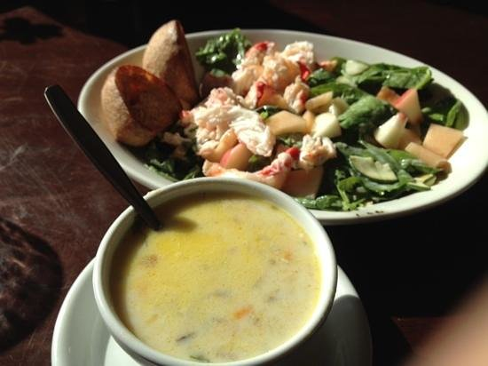 Nome, AK: Halibut Soup and Seafood Salad
