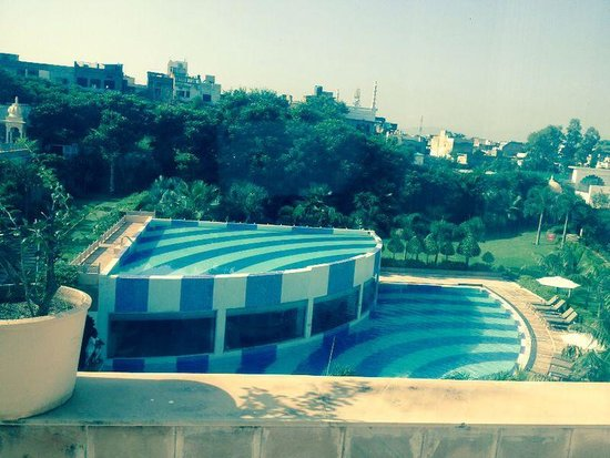 Hotel pool area for Hotel in udaipur with swimming pool