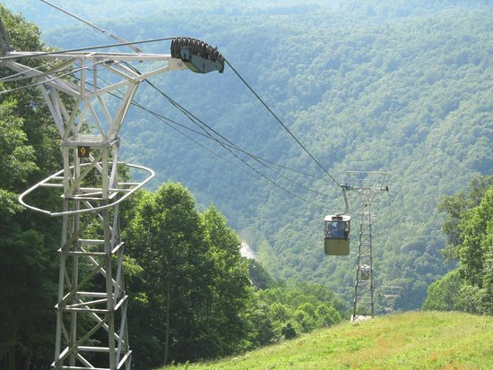 Pipestem, WV: Riding down into the valley
