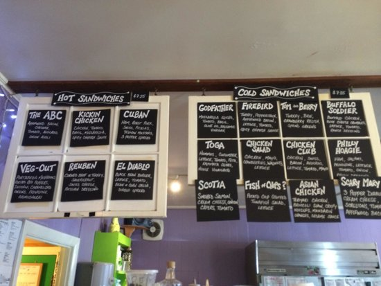 Hot And Cold Sandwich Menu