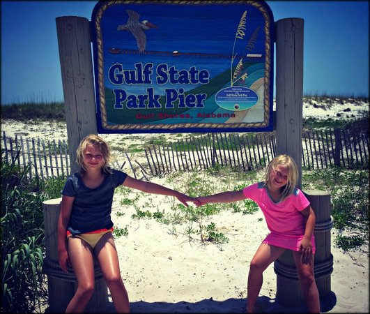 Gulf state park pier sign picture of gulf state park for Gulf shores pier fishing forum
