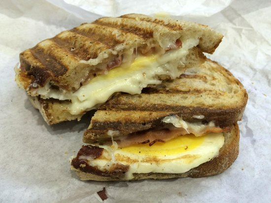 Egg, Bacon & Cheese Panini. - Picture of La Brea Bakery, Los Angeles ...