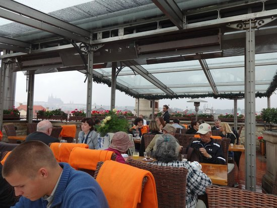 The terrace of the hotel u prince restaurant complete for Terrace u prince prague