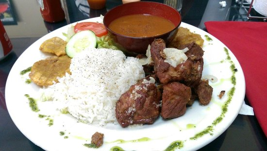 Fried pork chunks picture of sabor latino authentic for Authentic puerto rican cuisine