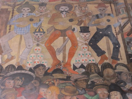 The dream night of the poor picture of murales de for Diego rivera day of the dead mural