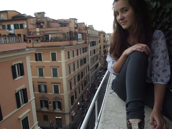 When In Rome Accommodation: Our balcony