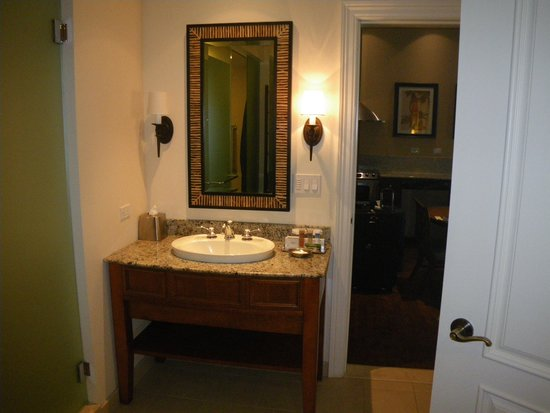 Sink In One Bedroom Unit Picture Of Kings 39 Land By Hilton Grand Vacations Club Waikoloa