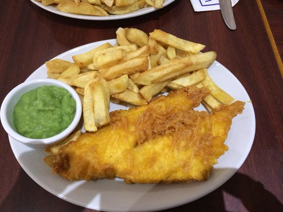 Cod and chips picture of winstons fish bar weston super for Best fish and chips nyc