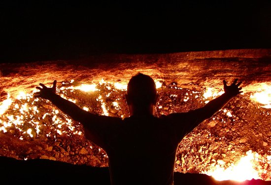 Me Roasting A Marshmallow At The Gate To Hell Picture Of