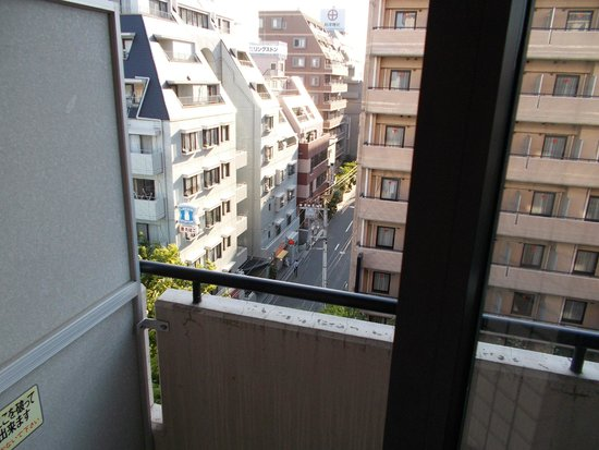 Hotel Mystays Kameido: View from the room facing west.
