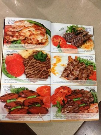 Aydin, Turkey: Menu