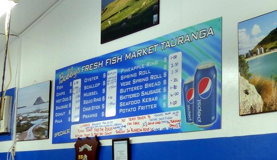 Tauranga photos featured images of tauranga bay of for Fresh fish company menu