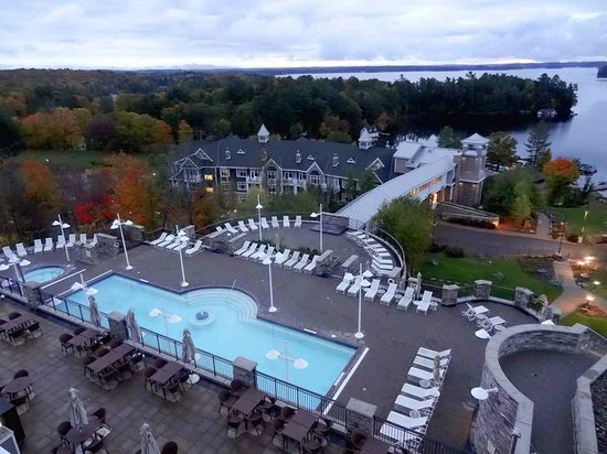 Hotel View From Lake Rosseau Picture Of Jw Marriott The Rosseau Muskoka Resort Spa Minett