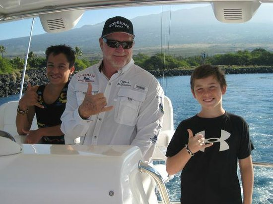 Captain al with my boys picture of topshape kona sports for Captain al fishing
