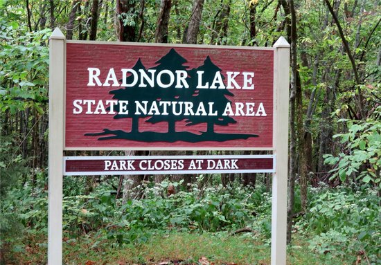 Radnor Lake State Park: This is the entrance sign