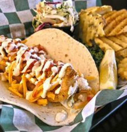Fish gator lobster or shrimp tacos picture of tin for Tin fish restaurant