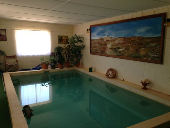 Indoor swimming pool picture of faye 39 s underground home for Underground swimming pool