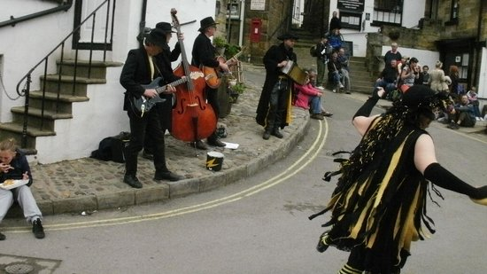 Fylingdales United Kingdom  City new picture : Robin Hood's Bay and Fylingdales Museum Photo: Dancing in the streets
