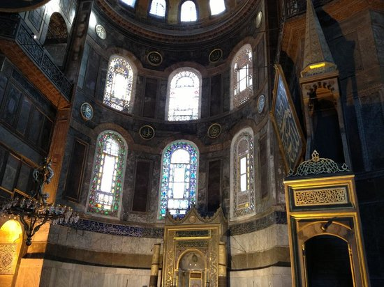 Inside from Ayasofya Mosque. - Picture of Hagia Sophia ...