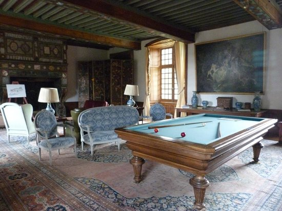 Nouic, France: The Billiard Room