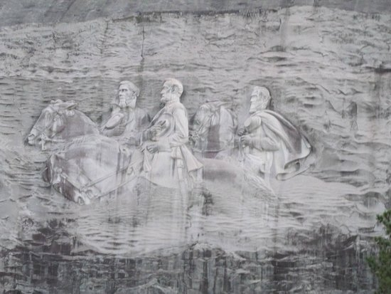Mountain carving picture of stone park